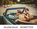 wealthy couple in a classic... | Shutterstock . vector #363607520