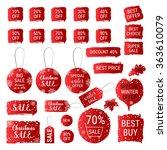 big winter sale  christmas sale ... | Shutterstock .eps vector #363610079
