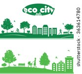 ecology concept of cityscapes.... | Shutterstock .eps vector #363614780