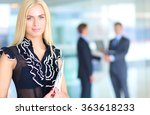 business woman standing in... | Shutterstock . vector #363618233