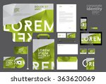 colorful corporate identity... | Shutterstock .eps vector #363620069