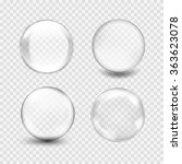 set of transparent glass sphere ... | Shutterstock .eps vector #363623078