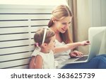 family mother and child...   Shutterstock . vector #363625739