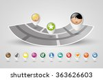 people on street map. location... | Shutterstock .eps vector #363626603