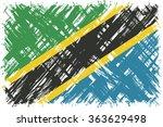 tanzanian grunge flag. raster... | Shutterstock . vector #363629498