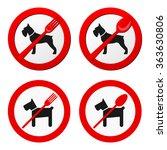 no animals sign vector. 4... | Shutterstock .eps vector #363630806