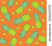 seamless pattern with... | Shutterstock .eps vector #363631370