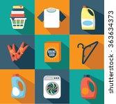 flat design laundry icon... | Shutterstock .eps vector #363634373