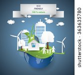 concept of eco life style with... | Shutterstock .eps vector #363635780