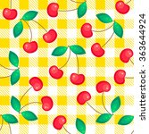 Tartan Plaid With Cherries...