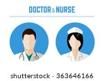 medical icons. doctor and nurse ... | Shutterstock .eps vector #363646166