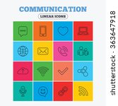 communication icons. smartphone ... | Shutterstock . vector #363647918
