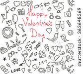 happy valentines day.vector... | Shutterstock .eps vector #363648269