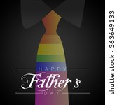 happy father's day   Shutterstock . vector #363649133