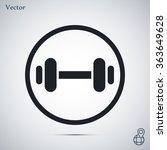 dumbbell vector icon | Shutterstock .eps vector #363649628