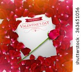 valentines day background with...   Shutterstock .eps vector #363651056