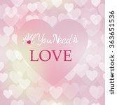shining bokeh heart valentine's ... | Shutterstock .eps vector #363651536