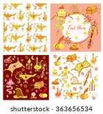 fairytale aladdin story theme... | Shutterstock .eps vector #363656534