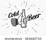 thumbs up symbol icon with cold ... | Shutterstock .eps vector #363660710