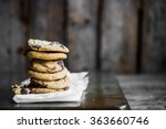 chocolate chip cookies on... | Shutterstock . vector #363660746