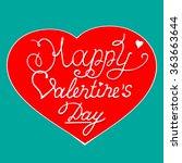 vector happy valentines day... | Shutterstock .eps vector #363663644