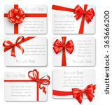 set collection of festive cards ... | Shutterstock .eps vector #363666200
