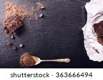 chocolate. black chocolate. a... | Shutterstock . vector #363666494