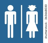 man and woman icon  vector... | Shutterstock .eps vector #363668030
