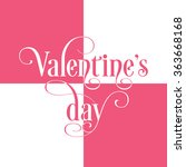 illustration of valentine's day ... | Shutterstock .eps vector #363668168