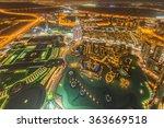 panorama of night dubai during...   Shutterstock . vector #363669518