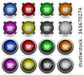 set of coffee glossy web...