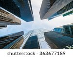 tall skyscrapers shot with... | Shutterstock . vector #363677189