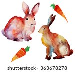 easter card on a white... | Shutterstock . vector #363678278