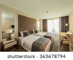 hotel room with modern interior | Shutterstock . vector #363678794