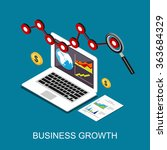 business growth. monitoring... | Shutterstock .eps vector #363684329