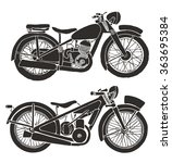 vintage motorcycle. hand drawn...   Shutterstock .eps vector #363695384