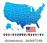 usa map | Shutterstock .eps vector #363697148