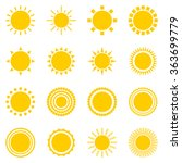 set of sun icons isolated on... | Shutterstock .eps vector #363699779