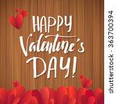 happy valentine's day ... | Shutterstock .eps vector #363700394