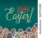 Happy Easter Greeting Card. On...