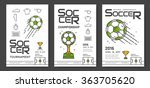 soccer championship modern line ... | Shutterstock .eps vector #363705620