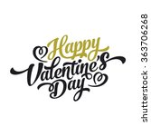 Happy Valentines Day Hand Drawing Vector Lettering design. | Shutterstock vector #363706268