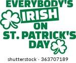 Everybody's Irish On St....