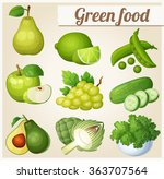 set of cartoon food icons.... | Shutterstock .eps vector #363707564