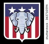 american  republican party... | Shutterstock .eps vector #363710594