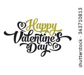 valentine day happy text vector ... | Shutterstock .eps vector #363710813