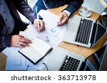 business team working on a new... | Shutterstock . vector #363713978