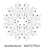 vector shape  molecular... | Shutterstock .eps vector #363717914