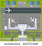 airport passenger terminal  top ... | Shutterstock .eps vector #363721568