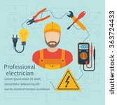 professional electrician icon.... | Shutterstock .eps vector #363724433